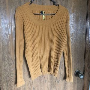 Apt 9 Scoop Neck Sweater Yellow/Mustard